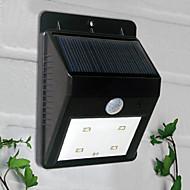 4-LED White Light LED Solar Light PIR ulkovalo