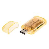 4-in-1 USB 2.0 muistikortinlukija (Vihreä / violetti / vaaleanpunainen / oranssi)