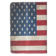 Retro Style American Flag Pattern Quality PU Full Body Case with Stand for iPad Air