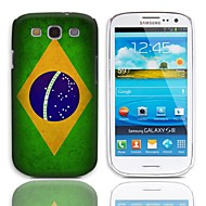 Vintage The Brazilian Flag Pattern Hard Case with 3-Pack Screen Protectors for Samsung Galaxy S3 I9300