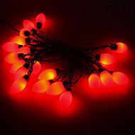 5M 15W 20-LED Red Light Cherry Tomato Shaped LED Strip Light (220V)