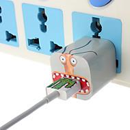 bricolage grands autocollants chargeur bouche de monstre avec nous brancher un chargeur mural et câble pour iphone 5/5 ans (5v 1a, 8 broches, 93cm)