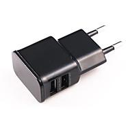 Universal Dual USB plug adaptateur secteur UE pour l'iPhone / iPad / iPod (100 ~ 240V)