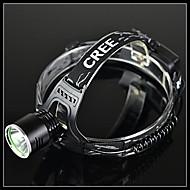 BORUIT A2 3-Mode Cree XM-L T6 Ladattava LED ajovalaisin (1200LM, 2 * 18650, Musta)