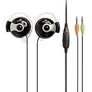 ECHOTECH CO-138MV On-Ear Hi-Fi Earhook plegable estéreo para el teléfono móvil / PC