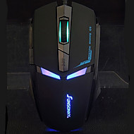Sunsonny T-M30 Iron Man Design LED Light Wired Gaming USB Mouse with Mousepad