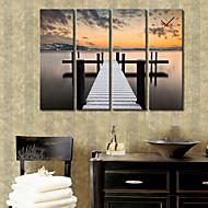 Modern Style Bridge Wall Clock in Canvas 4pcs