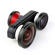 Fish Eye Macro Super Wide Self-timer Fisheye 4 in 1 Lens Camera for iPhone 5/5S