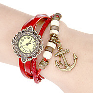 Women's Vintage Flower Dial Pu Band Quartz Analog Bracelet Watch (Assorted Colors) Cool Watches Unique Watches