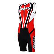 kooplus - triathlon terno ciclismo roupa vermelha + desgaste preto sem mangas e shorts de ciclismo conjoined roupas