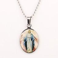Personalizado Padrão Silver Gift Maria Colar Gravado
