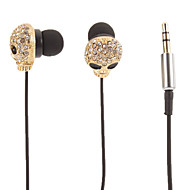 Skull-Shaped Gold Stereo In-Ear Headphone(Small Eyes)