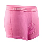 SANTIC 싸이클 이너쇼츠 여성용 자전거 속옷 반바지 패드 반바지 하단 수분 투과율 통기성 3D 패드 100% 폴리에스터 솔리드 봄 여름 겨울 가을 사이클링/자전거 핑크