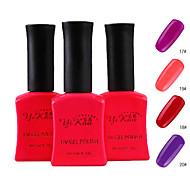 Fashion frugt sukker Color Glow In The Dark UV Gel No.17-20 (1PCS 15ml, assorterede farver)