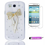 Cristallo variopinto pavone Plastic Phone Shell + HD Film + Mini Stylus 3 in1 per i9300 Samsung Galaxy S3