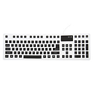 106 USB Wired Silicone Portable Foldable Keyboard (Assorted Colors)