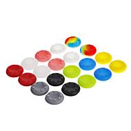 20pcs 10 colores Thumbstick cubierta de piel de agarres para xbox ps3 wii u 360 uno (colores surtidos)