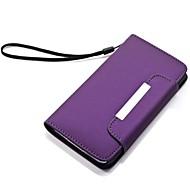 Για Samsung Galaxy Θήκη Θήκη καρτών / με βάση στήριξης / Ανοιγόμενη / Παγωμένη tok Πλήρης κάλυψη tok Μονόχρωμη Συνθετικό δέρμα SamsungS6