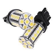 2 Pcs 3157 White 30 5050 SMD LED Car Brake Stop Lamp Light Bulb