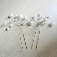 Kobiety Pearl imitacja Winieta-Ślub Piękny Spinka do włosów 6 elementów