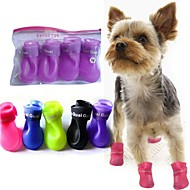 Dog shoes/Dog boots-S/M/L-Spring/Fall-Waterproof-Purple/Yellow/Blue/Black/Pink