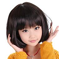 Capless Bob Haircut Style Children's Wig(Black)
