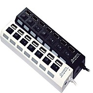 7-port High Speed ​​USB 2.0-hubb oberoende switch