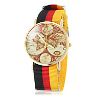 Unisex Earth Map model National Stil Material Band cuarț încheietura ceas (culori asortate)
