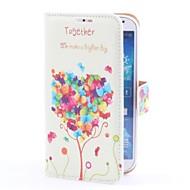 Liebes-Baum Deer Art PU-Ledertasche mit Kartensteckplatz und stehen für Samsung i9500 Galaxy S4
