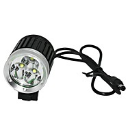 Marsing MS-04 3 x Cree XM-L U2 3000lm 3-Mode Cool White cykellygte / forlygte - Sort (4 x 18650)