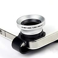 2 In 1 Universal U Style Clip 0.67X laajakulma Add-On Lens makro-objektiivi iPhone / matkapuhelimesta