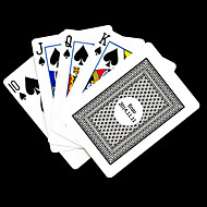 Personalized Gift Gray Check Pattern Playing Card for Poker