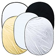 5 în 1 Fotografie Studio Multi foto pliabile Light Reflector Oval 90 x 120cm