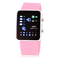 Women's Fashionable Binary Display LED Digital Silicone Band Wrist Watch (Assorted Colors)
