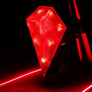 CoolChange Diamond Αδιάβροχο Red Bicycle Tail Light