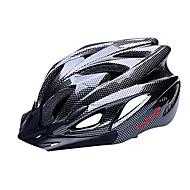 Helmet Pyörä (Musta , PC / EPS)-de Naisten koot / Miesten / Unisex - Pyöräily Maantie / Urheilu / Puolikuori 18 HalkiotMedium: 55-59cm;