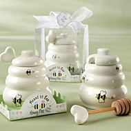 Meant to Bee Ceramic Honey Pot with Wooden Dipper
