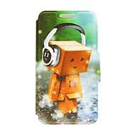 Voor Nokia hoesje Kaarthouder / Flip hoesje Volledige behuizing hoesje Cartoon Hard PU-leer Nokia Nokia Lumia 630