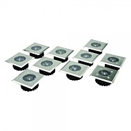 Set di 8 in acciaio inossidabile LED bianco in acciaio inox solari Decking Luci