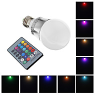 E26/E27 5 W 1 High Power LED 400 LM RGB Globe Bulbs AC 220-240 V