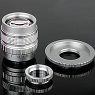50mm F1.4 CCTV Lens C Mount + Macro Rings + C-NEX Adapter Ring Set for Sony NEX-5C NEX-7 etc - Silver