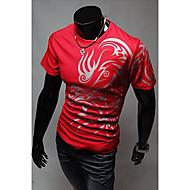 Men's Round Neck Ethnic Print Fashion T-Shirt