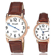 Couple's Simple Design PU Band Quartz Wrist Watch (Assorted Colors) Cool Watches Unique Watches
