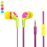 Fashion AWei Q6i  3.5mm Plug In-Ear Aluminum Alloy Super Bass  Microphone Earphones-(Yellow/  /Blue)