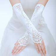 Ellebooglengte Zonder vingers Handschoen Tule Bruidshandschoenen Feest/uitgaanshandschoenen Lente Zomer Herfst