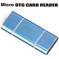 OTG USB Micro SD/TF Card Reader Adapter for Samsung Galaxy/ Smart Phone/USB PC (Assorted Colors)