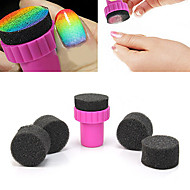 1PCS Manicure Sponge Nail Art Stamper Tools with 4PCS Sponge Nail for Gradient Color Nail Art