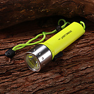 Diving Flashlights/Torch LED 1 Mode 350 Lumens Waterproof / Rechargeable Cree XR-E Q5 AA Multifunction - Others Aluminum alloy / Plastic