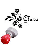 gepersonaliseerde 30x40mm bruiloft& zakelijke bloempatroon ovale gegraveerd lichtgevoelige zegelring naam stempel (binnen 8 letters)