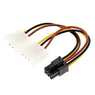 4 Pin Molex til 6-pin PCI-E Power Adapter (12cm)